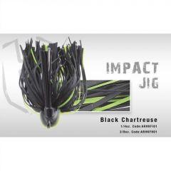 Jig Colmic Hearkles Impact antibradis 3/0 1/4oz 7gr Black/Chartreuse