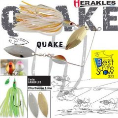 Colmic Herakles Spinnerbait Quake 17gr. - Chartreuse/Lime