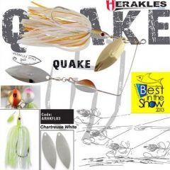 Colmic Herakles Spinnerbait Quake 17gr. - Chartreuse/White