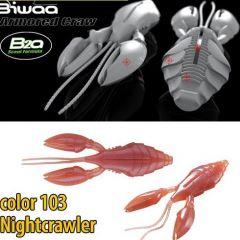Creature Bait Biwaa Armored Craw 10cm, culoare 103 Nightcrawler