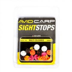 Stopper Avid Carp Mega Sight Stops Floating  Short - Mixed Colours