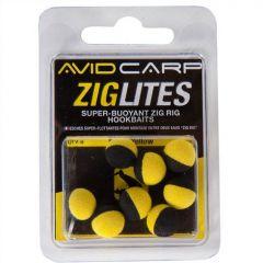 Boilies Avid Carp Ziglites Pop-Up 10mm - Black/Yellow