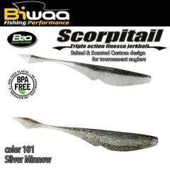 Shad Biwaa Scorpitail 13cm, culoare Silver Minnow
