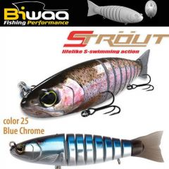 Swimbait Biwaa Strout 16cm/52g, culoare Blue Chrome