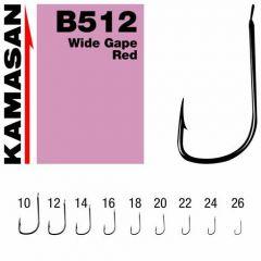 Carlige Kamasan B512 Wide Gape Red nr.14