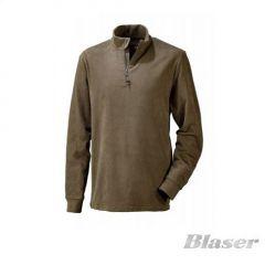 Bluza Fleece Blaser Troyer Basic maro, marimea 3XL