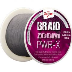 Fir textil Carp Zoom Braid Zoom PWR-X Grey 0,18mm/14,8kg/120m