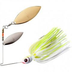 Spinnerbait Booyah Double Willow Blade 3/8oz - White Chartreuse