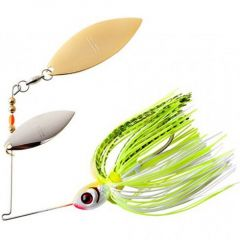 Spinnerbait Booyah Double Willow Blade 3/8oz - Chartreuse White Shad