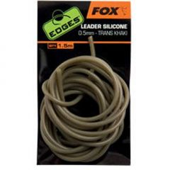 Fox Edges Leader Silicone 0.5mm - Trans Khaki