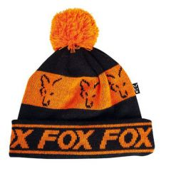 Caciula Fox Bobble Black Orange