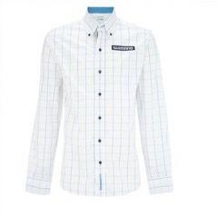 Camasa Shimano alb/albastru, marime XS
