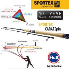 Lanseta Sportex Carat Spin 2.70m, 40gr