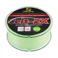 Fir monofilament Carp Spirit Celt-2X Fluo Green 0.285mm/6.45kg/1400m