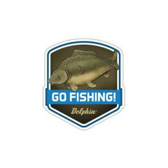 Sticker Delphin Go Fishing