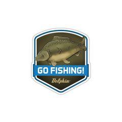 Sticker Delphin Go Fishing