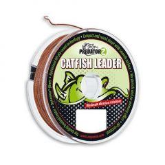 Fir textil Carp Zoom Predator Z Catfish Leader Brown 0.80mm/70kg/15m