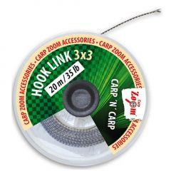 Fir textil Carp Zoom HookLine 3x3 15lb, 20m - Brown
