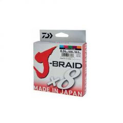 Fir textil Daiwa J-Braid X8 Multicolor 0.06mm/4kg/150m