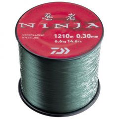 Fir monofilament Daiwa Ninja X Green 0.33mm/7.5kg/1060m