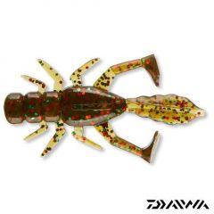 Daiwa Soft D.Fin Bug 5cm, 10 buc/plic, green/glitter