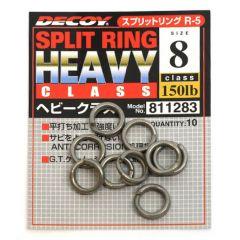 Inele despicate Decoy Heavy Class Silver R-3 Nr.8
