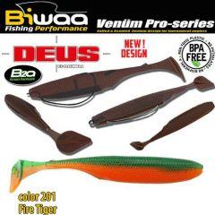 Shad Biwaa Deus 5.1cm, culoare 201 Fire Tiger