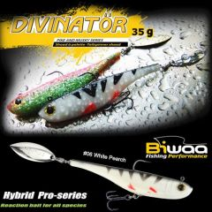 Shad Biwaa Divinator Medium 18cm/35g, culoare White Perch