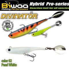 Shad Biwaa Divinator Mini 9.5cm/9g, culoare Pearl White
