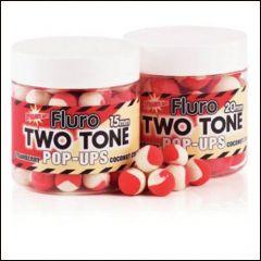 Boilies Dynamite Baits Pop-up Fluro Two Tone Strawberry & Coconut Cream 15mm