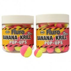 Boilies Dynamite Baits Pop-up Fluro Two Tone Krill & Banana 20mm