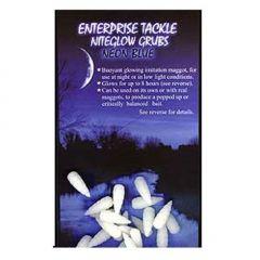 Viermi artificiali Enterprise Tackle Niteglow Grubs - Neon Blue