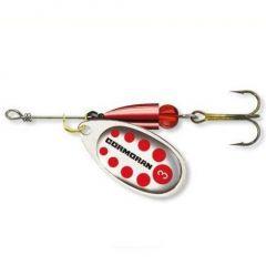 Lingura rotativa Cormoran Bullet Nr.1, culoare Silver/Red, 3gr