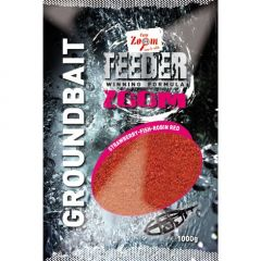 Carp Zoom Feeder Zoom Groundbaits - Strawberry-Fish-Robin Red 1kg