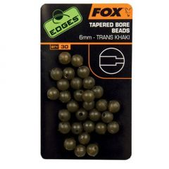 Fox Edges Tapered Bore Beads - Trans Khaki