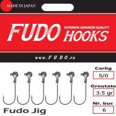 Jig Relax Spinning bila carlig Fudo nr. 5/0, 3.5gr, plic  6buc.