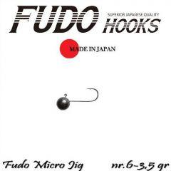 Microjig Relax Spinning bila carlig Fudo nr. 6, 3.5gr, plic  9buc.
