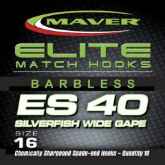 Carlige Maver Seria Elite ES40 Silverfish Wide Gape nr 24