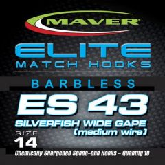 Carlige Maver Seria Elite ES43 Silverfish Wide Gape nr 22
