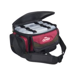Geanta Berkley System Bag Red-Black + 4 cutii