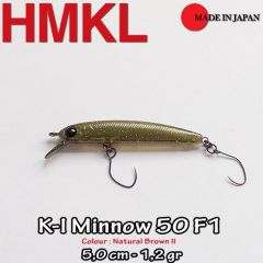 Vobler HMKL K-I Minnow 50F1 5cm - Natural Brown II