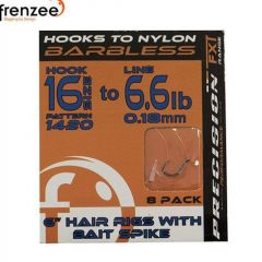 Carlige Legate Frenzee 1420 Nylon Eyed/Bait Spike nr.18/4.5lb