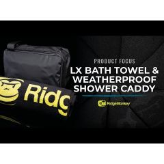 Ridge Monkey LX Bath Towel and Weatherproof Shower Caddy