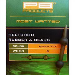 PB Heli Chod Rubber&Beads - Gravel