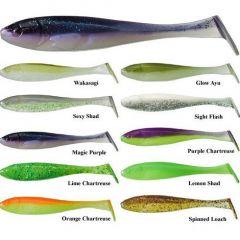 Shad Illex Magic Slim 6.5cm, culoare Purple Chartreuse