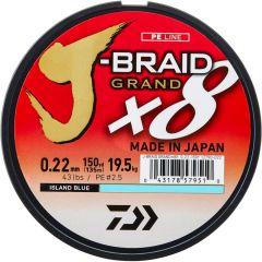 Fir textil Daiwa J-Braid Grand X8 Blue 0.13mm/8.5kg/135m