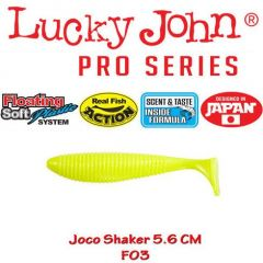 Shad Lucky John Joco Shaker 5.6cm, culoare F03 - 6 buc/plic