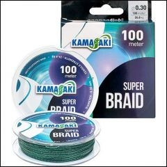 Fir textil Kamasaki Super Braid Green 0.25mm/21.3kg/100m