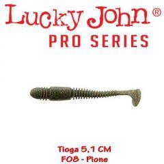 Shad Lucky John Tioga 5.1 cm, culoare Pione - 10 buc/plic