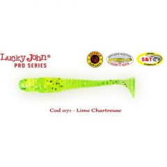 Shad Lucky John Tioga 7.4 cm, culoare Lime Chartreuse - 7 buc/plic